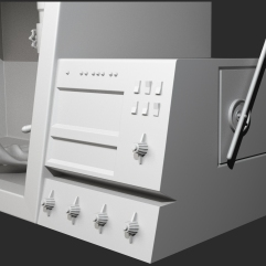Bio Safety Cabinet Prototype modeled in 3ds Max.