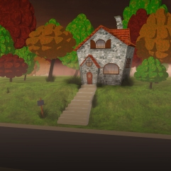Little Red Riding Hood's House: Modern day fairy tale animation modeled in 3ds Max, with hand-painted textures created in Photoshop.