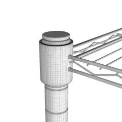 Wire frame view of bracket.